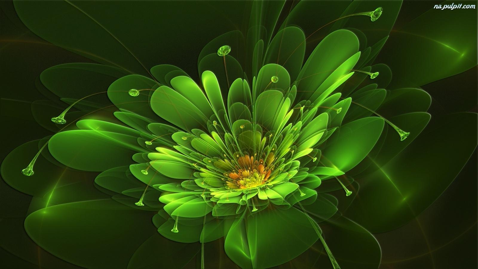3D, Zielony, Kw...